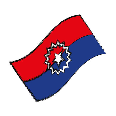 Juneteenth freedom day symbol icon vector illustration graphic design