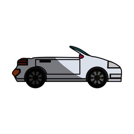 shadowed: Convertible sport car icon vector illustration graphic design