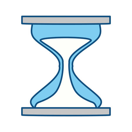 Hourglass sand timer icon vector illustration graphic design