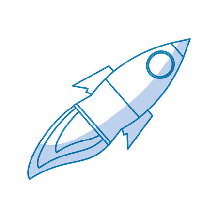 Rocket spaceship isolated icon vector illustration graphic design