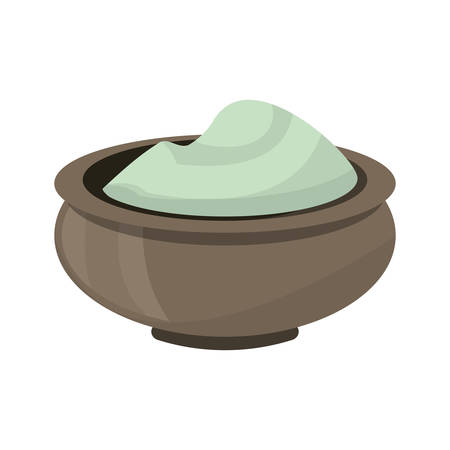 Massage cream spa icon vector illustration graphic design 向量圖像