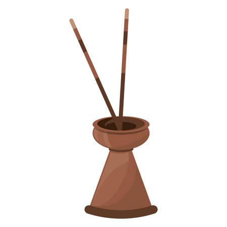 Spa incense aroma teraphy icon vector illustration graphic design Illustration