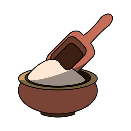 masseur: Massage cream spa icon vector illustration graphic design Illustration