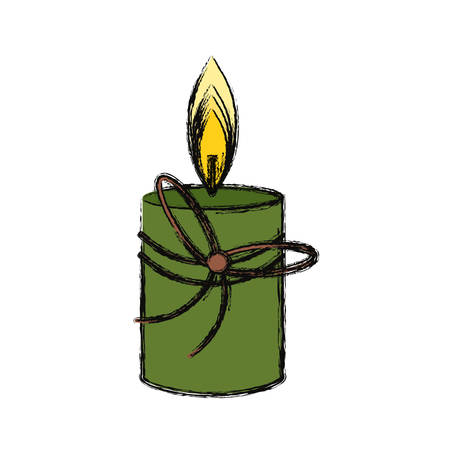 fragrances: Spa candle isolated icon vector illustration graphic design Illustration