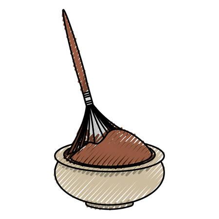 masseur: Chocolate teraphy spa icon vector illustration graphic design