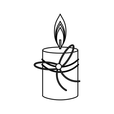 ilustration: Spa candle isolated icon vector illustration graphic design Illustration
