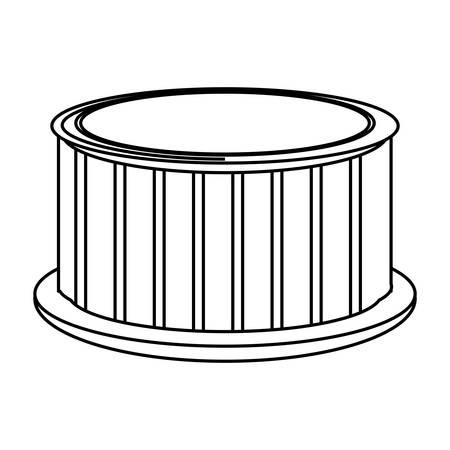 Wooden jacuzzi spa icon vector illustration graphic design