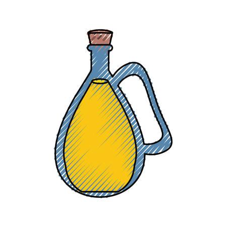 Coconut oil glass icon vector illustration graphic design
