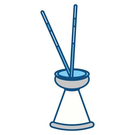 Spa incense aroma teraphy icon vector illustration graphic design Stock Vector - 81065934