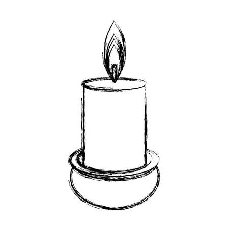 wood burner: Spa candle isolated icon vector illustration graphic design Illustration