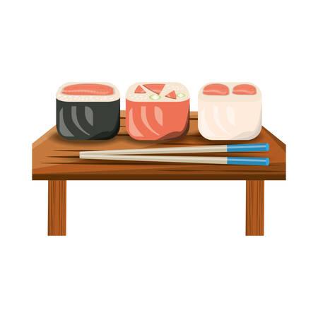 Delicious sushi food icon vector illustration graphic design