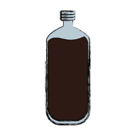 carbonated beverage: Delicious cola soda icon vector illustration graphic design