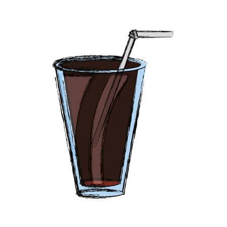 Heerlijke cola soda icoon vector illustratie grafisch ontwerp