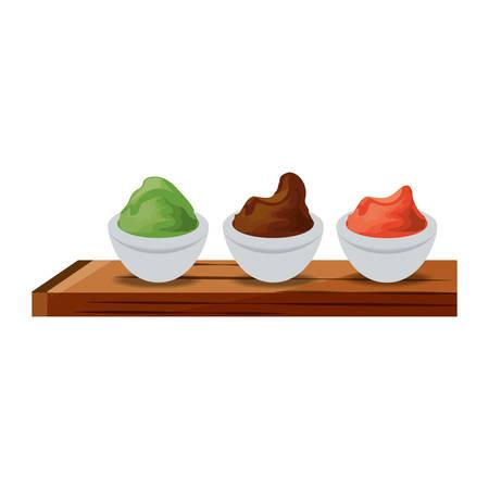 Wasabi spicy food icon vector illustration graphic design