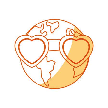 Planeta earh icono de dibujos animados ilustración vectorial diseño gráfico Foto de archivo - 81066196
