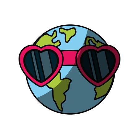 Planeta tierra icono de dibujos animados ilustración vectorial diseño gráfico Foto de archivo - 81067572