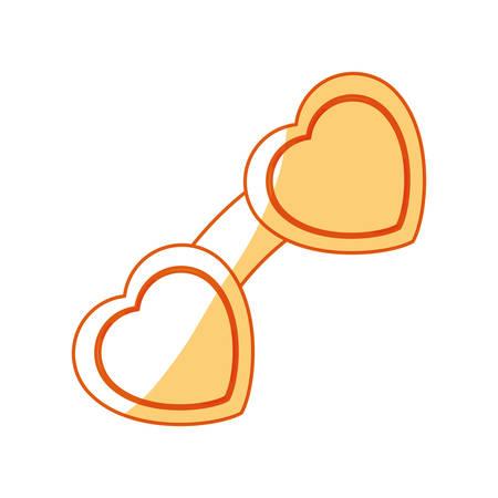Cute fashion glasses icon vector illustration graphic design