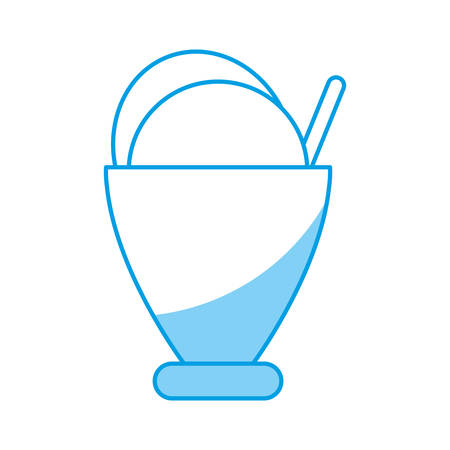 ice cream cup icon over white background vector illustration Illustration