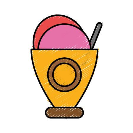 sorbet: ice cream icon over white background vector illustration