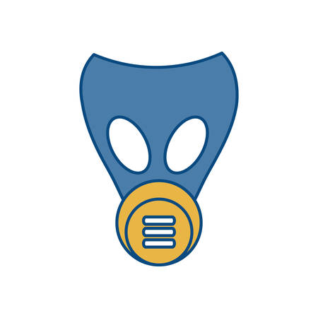 flammable: gas mask icon over white background vector illustration