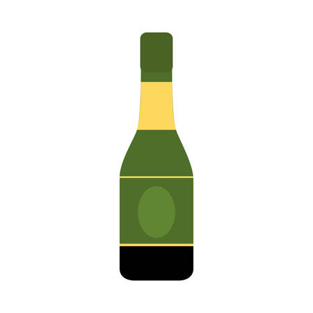 champagne bottle icon over white background vector illustration