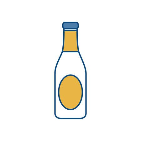 Beer bottle icon over white background colorful design vector illustration