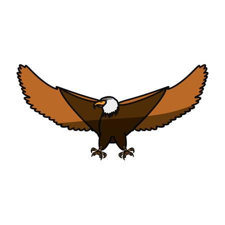 Hawk eagle symbol icon vector illustration graphic design Illustration