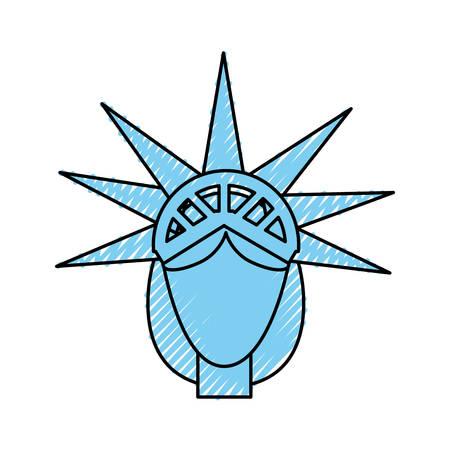 Statue of Liberty icon vector illustratie grafisch ontwerp Stock Illustratie