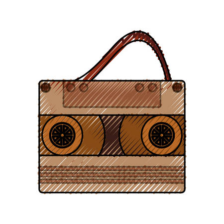 Old music casette icon vector illustration graphic design Illustration