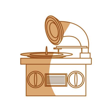 Music gramophone vinyl icon vector illustration graphic design