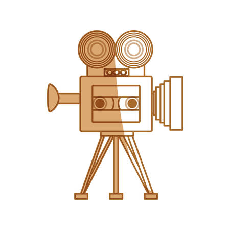 Old cinema camcorder icon vector illustration graphic design