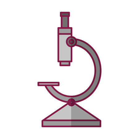 A microscope icon over white background vector illustration.