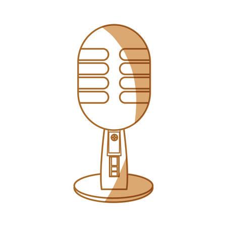 Vintage radio microphone icon vector illustration graphic design Illustration