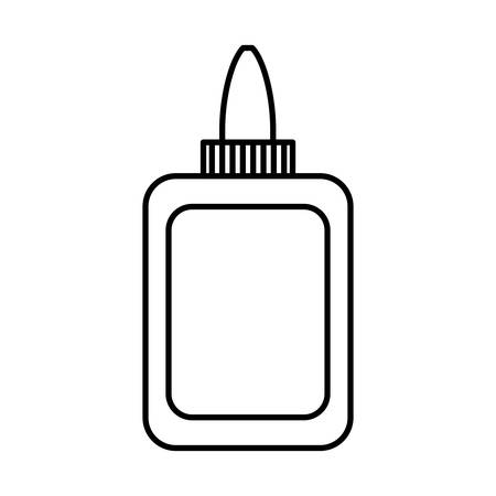 Glue bottle icon over white background vector illustration.