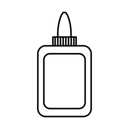 Lijmflessenpictogram over witte vectorillustratie als achtergrond.