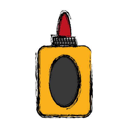tear duct: A glue bottle icon over white background colorful design vector illustration