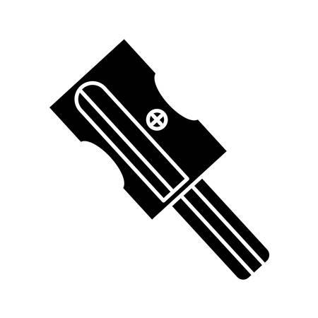 Sharpener icono sobre fondo blanco ilustración vectorial Ilustración de vector