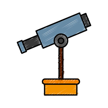observation: telescope icon over white background vector illustration