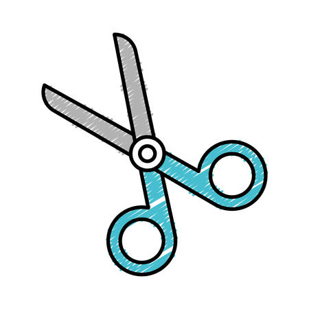 scissors icon over white background colorful design vector illustration Illustration