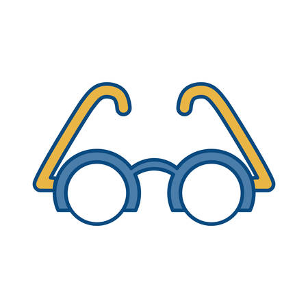 assortment: glasses icon over white background colorful design vector illustration