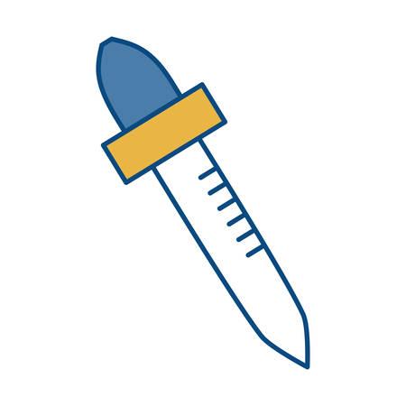dropper icon over white background colorful design vector illustration