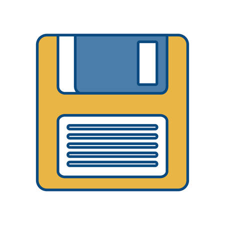 diskette: diskette icon over white background colorful design vector illustration