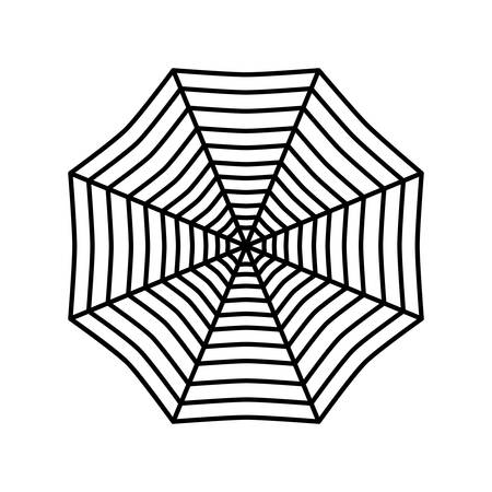 A spider web icon over white background vector illustration.