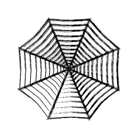 spider web icon over white background vector illustration Imagens - 81185073