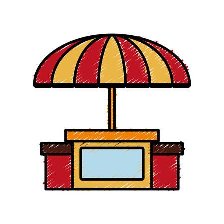 beach parasol icon over white background colorful design vector illustration