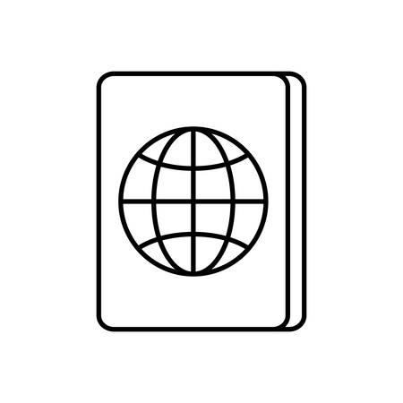 emigration: passport icon over white background vector illustration