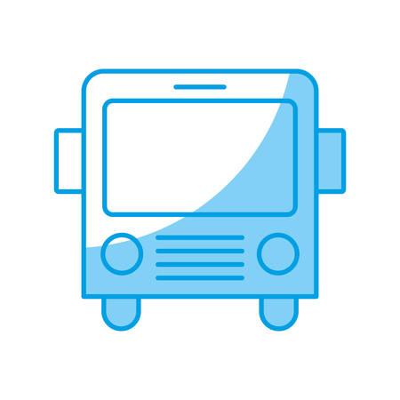 bus icon over white background vector illustration