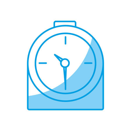 urgency: clock icon over white background vector illustration