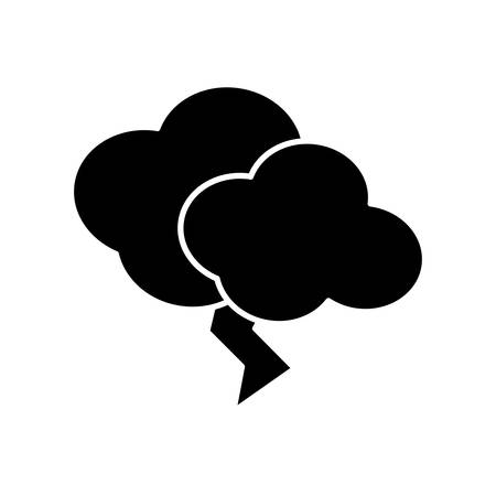 bolt: Thunder and cloud icon over white background vector illustration Illustration