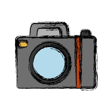 photographing: photograhic camera icon over white background vector illustration